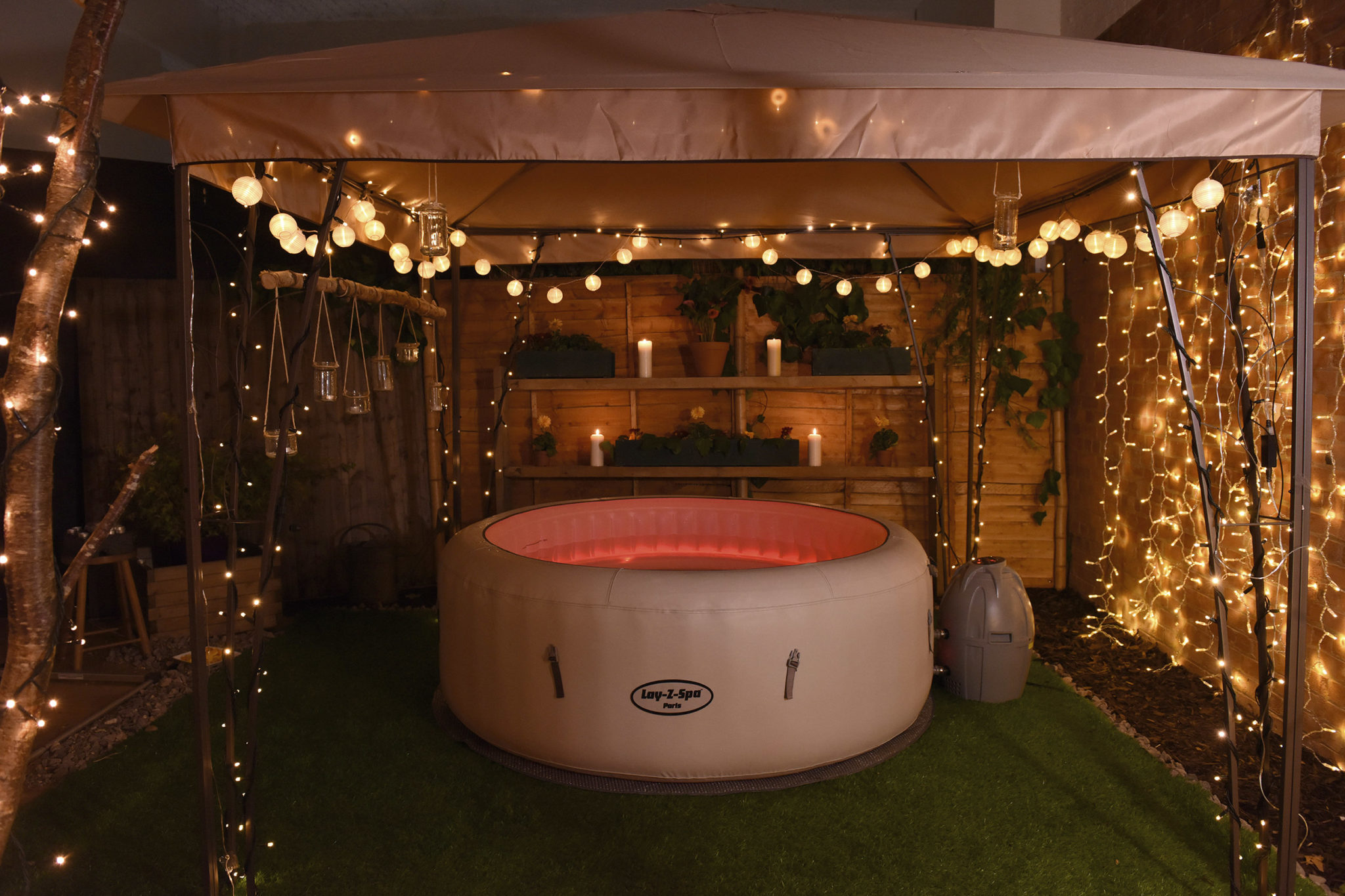 Spa gonflable Paris dans une ambiance romantique