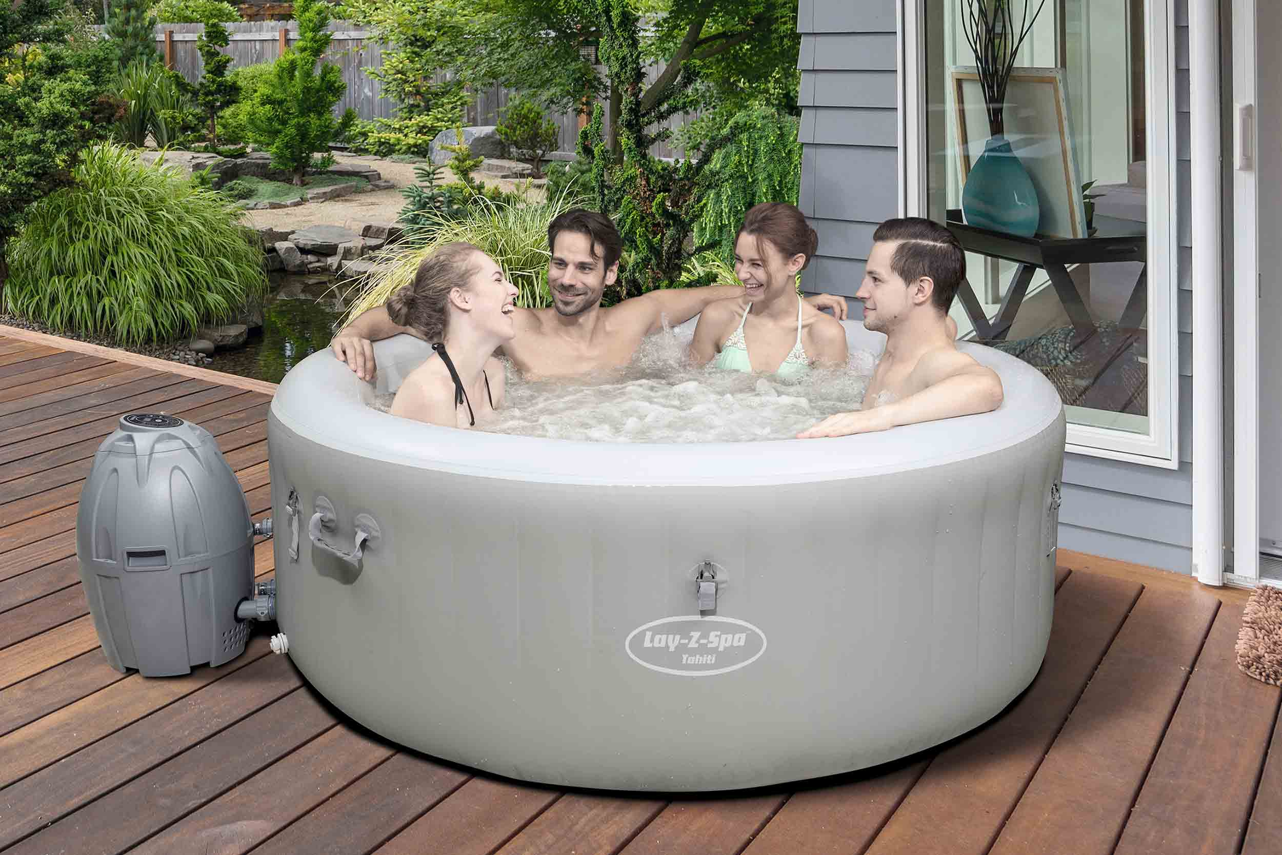 coupon code united states get cheap Spa gonflable de 4 à 6 places rond Tahiti - Lay-Z-Spa