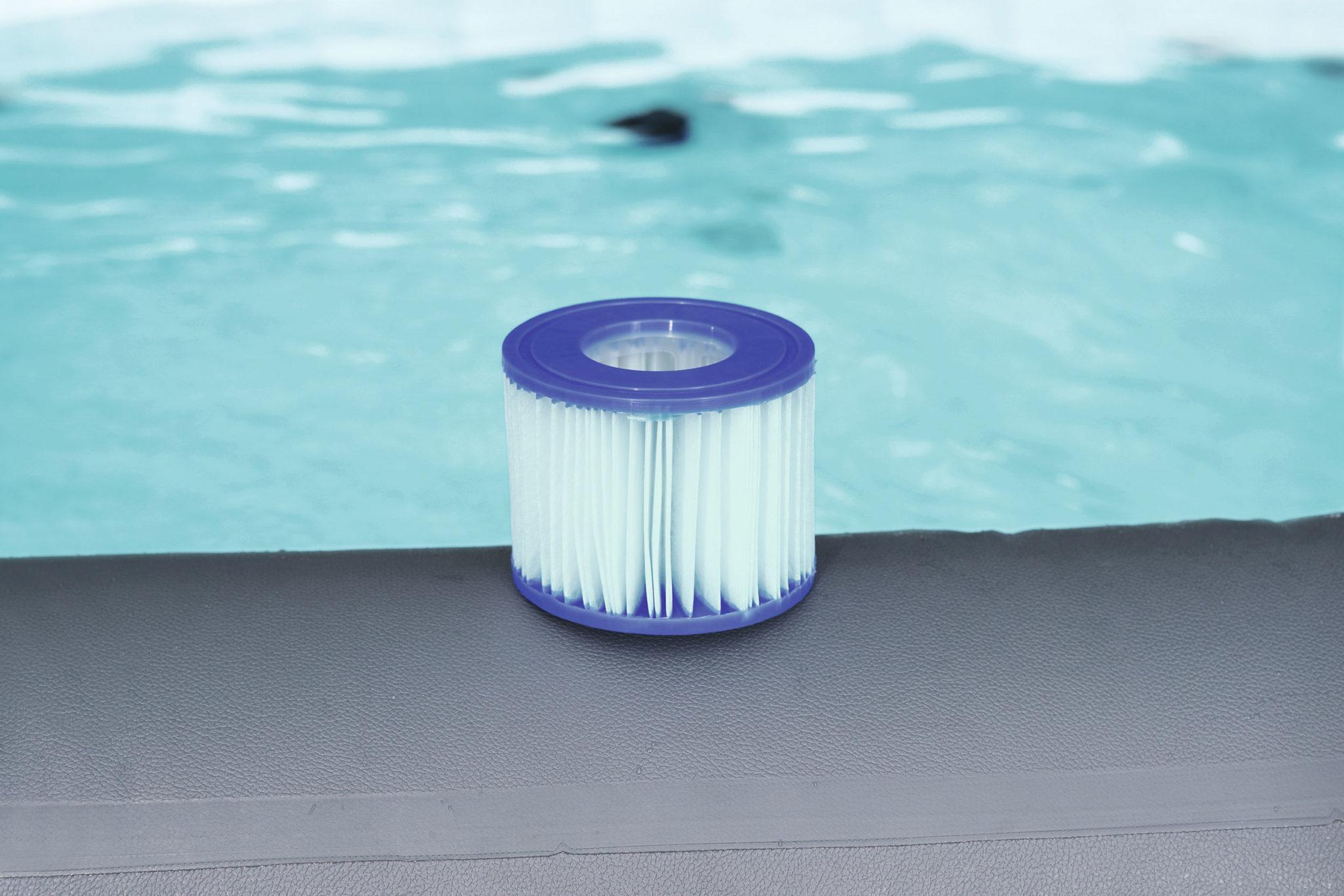 Filtre anti microbien sur un spa gonflable